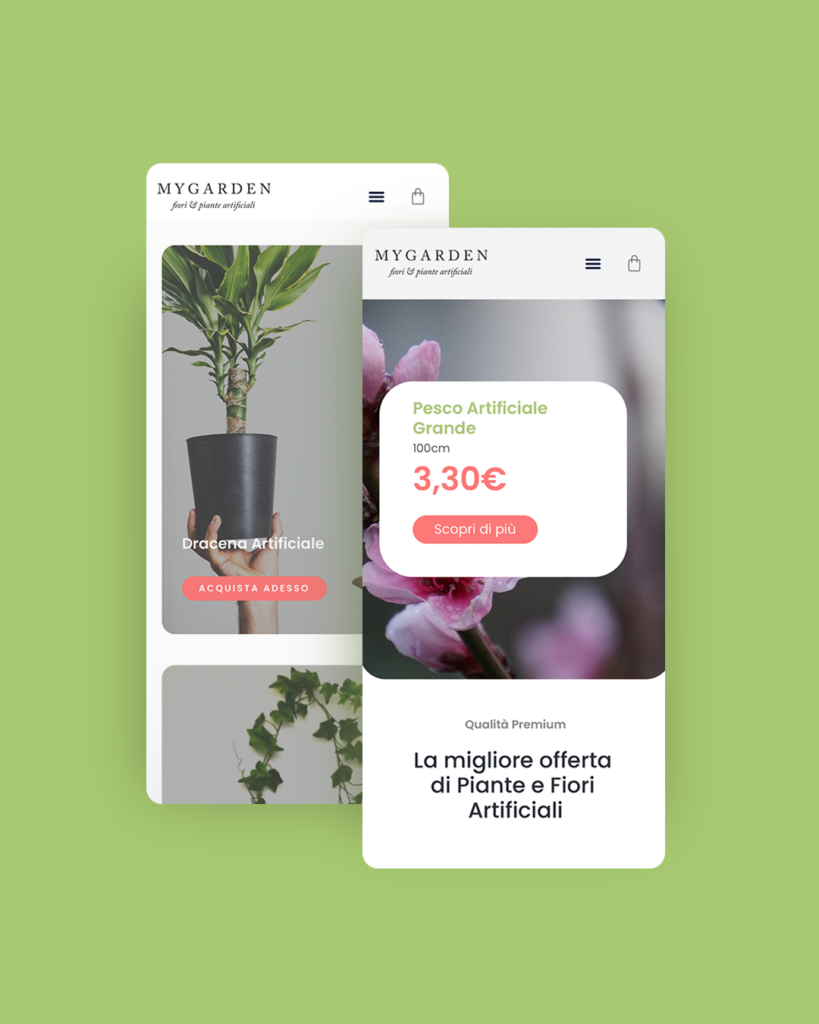 my garden design sito webdesign plants